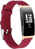 KELERINO. Denim bandje voor Fitbit Inspire (HR) - Rood