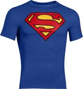 Under Armour Alter Ego Superman Compression SS - Royal/Red - Extra Large
