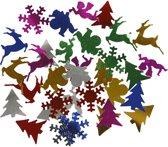 Pailletten, afm 15 mm, metallic kleuren, Kerst, 250gr
