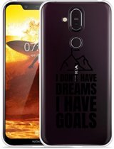 Nokia 8.1 Hoesje Goals are for Men