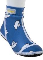 Duukies - Kinderen UV-strandsokken - Blue Boat - Blauw