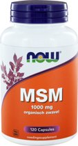 Now MSM - 120 Capsules - Voedingssupplement