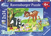Ravensburger Disney Bambi Bambi en zn vriendjes Twee puzzels van 24 stukjes