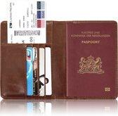 Paspoorthouder / Paspoorthoesje / Passport Wallet - V1 - Donkerbruin