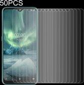 Let op type!! 50 stuks voor Nokia 7 2 2.5 D niet-volledig scherm gehard glas film