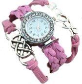 Vintage love horlogearmband roze I-deLuxe verpakking