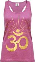"Yoga-Racerback-Top ""OM sunray"" - rose wine gold M Loungewear shirt YOGISTAR"