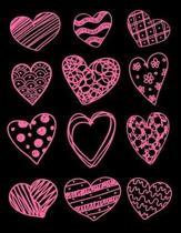 Doodle Hearts Sheet Music Notebook