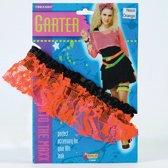 Neon oranje kousenband dames