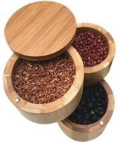 Voorraad bakjes Kruiden - Premium Bamboe Specerijenbakje + GRATIS Kook E-Book - Kruiden - Peper- en Zoutbakje