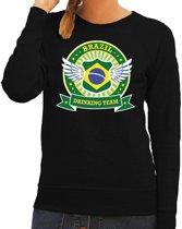 Zwart Brazil drinking team sweater dames S