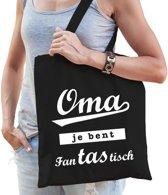 Cadeau tas zwart katoen met de tekst Oma je bent fanTAStisch - kadotasje voor oma's
