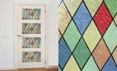 Raamfolie - Zelfklevend - Glas in lood - 45x200cm