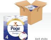 Page Design - 6x 4 rollen - Toiletpapier - Voordeelverpakking