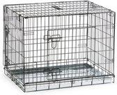 Beeztees 2 Deurs - Hondenbench - Zwart - 78x55x61 cm