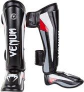 Venum Elite Standup Scheenbeschermers (black/red/grey) - M