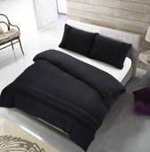 The Supreme Home Collection Avenza Zwart Maat: 2-persoons (200 x 220 cm + 2 kussenslopen)