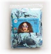 Lichtblauwe Confetti Metallic 250 gram