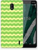 TPU bumper Nokia 1 Plus Waves Green