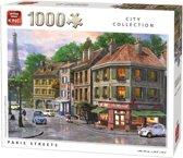 King Puzzel 1000 Stukjes (68 x 49 cm) - Parijs Straten - Legpuzzel Steden - Volwassenen