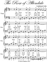 The Rose of Allendale Easy Piano Sheet Music