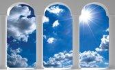 Fotobehang Lucht, Wolken | Blauw | 416x254