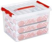 Sunware Q-Line Kerstballen Opbergbox - 22L - Voor 60 Kerstballen - Transparant