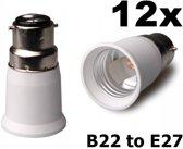 12 Stuks - B22 naar E27 Fitting Omvormer