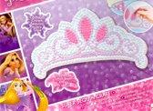 Disney Princess Maak je Eigen Prinsessenkroon – 25x30x4cm   Knutselpakket voor Kinderen   Kronen Maken   Gekleurde Steentjes Plakken