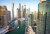 Fotobehang  Dubai City Skyline Marina | XXL - 312cm x 219cm | 130g/m2 Vlies