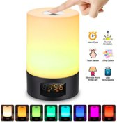 Smart Wake Up Light Touch Panel | Lichtwekker Met Zonsopgang Simulatie - RGB + Dim Warm Wit Licht - Digitale Wekker