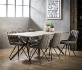 Meer Design Eettafel Sirius Bruin 200cm