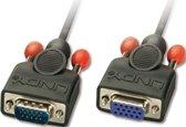 Lindy 2m HD15 VGA kabel VGA (D-Sub) Zwart