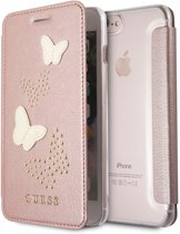 iPhone 8 Plus/7 Plus/6s Plus/6 Plus hoesje - Guess - Rose goud - Kunstleer