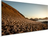 Eiland Bartolomé bij zonsondergang Galapagos eilanden Plexiglas 160x80 cm - Foto print op Glas (Plexiglas wanddecoratie)