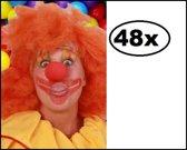 48x Schuimneus clown rood