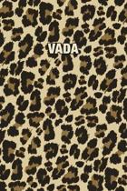 Vada: Personalized Notebook - Leopard Print Notebook (Animal Pattern). Blank College Ruled (Lined) Journal for Notes, Journa