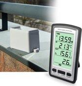 Alecto WS-1200 | Digitaal weerstation | Meet binnen en buitentemperatuur | Met regenmeter | Zwart/zilver