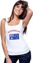 Witte dames tanktop met vlag van Australie S