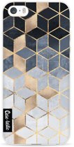 Casetastic Softcover Apple iPhone 5 / 5s / SE - Soft Blue Gradient Cubes