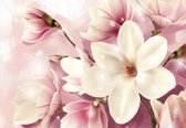 Fotobehang Magnolia Pink | XXL - 312cm x 219cm | 130g/m2 Vlies
