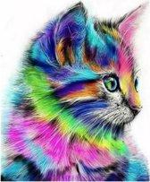 Diamond Painting 5D - Fantasie Kat - 40x50 Volledig Diamant Schilderen Hobby Dier Dieren Katten Poes Huisdier Pixelen Pixelpakket DiamondPainting