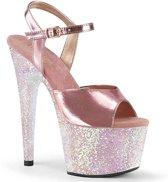 Pleaser Sandaal met enkelband -37 Shoes- ADORE-709LG Roze