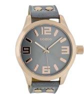 OOZOO Timepieces C1154 - Horloge - 46 mm - Leer - Grijs