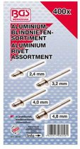Assortiment aluminium blindklinknagels/popnagels 400 delig BGS 8058