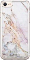 iPhone 8/7 siliconen hoesje - Parelmoer marmer