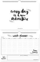 Weekplanner A4 Zwart Wit DesignClaud - Met ophanghaakje