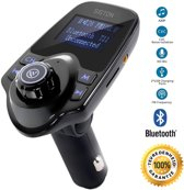 Bluetooth FM Transmitter, 120 ° Rotatie Auto Radio Adapter CarKit met 4 Music Play Modes / 5 in 1 - 2020