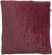 Dutch Decor Kussenhoes Timy 45x45 cm bordeaux
