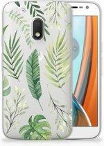Motorola Moto G4 Play Uniek TPU Hoesje Leaves